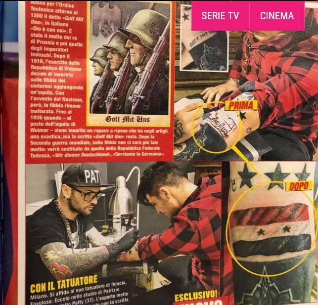 6D50913A 4205 4331 932A 94D58AE135A7 - Tatuaggio nazista di Luigi Favoloso. E arrivano le repliche di Selvaggia Lucarelli e della comunità ebraica