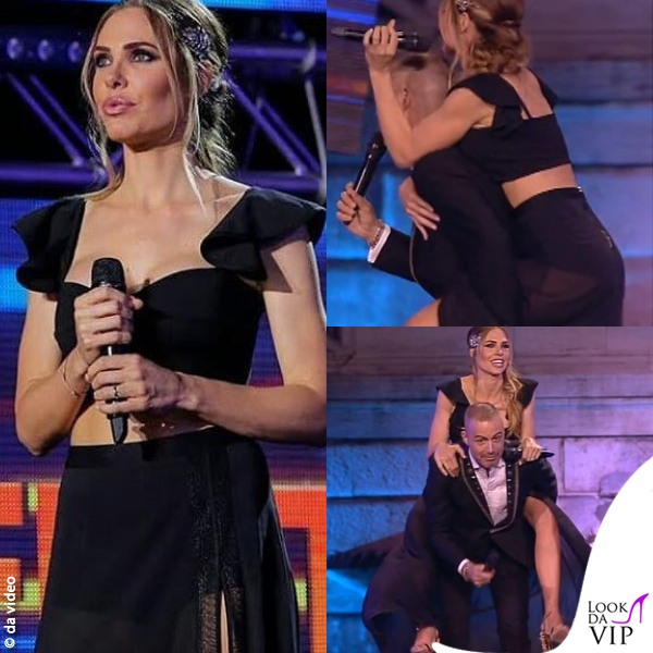 Ilary Blasi Wind Summer Festival terza puntata top Space gonna La Perla 0