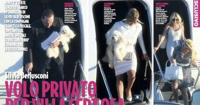 Silvio Berlusconi Francesca Cipriani Elena Morali 1 390x205 - Silvio Berlusconi porta in vacanza Francesca Cipriani e Elena Morali  volando con il jet privato (FOTO)