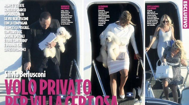 Silvio Berlusconi Francesca Cipriani Elena Morali 1 800x445 - Silvio Berlusconi porta in vacanza Francesca Cipriani e Elena Morali  volando con il jet privato (FOTO)