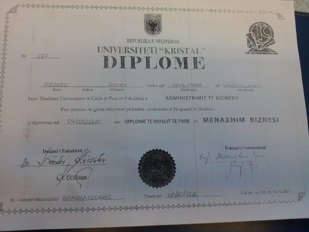 diploma-renzo-bossi-albania