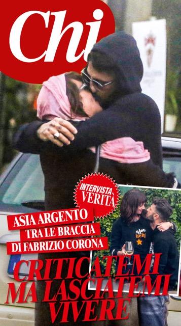 Asia Argento e Fabrizio Corona sono fidanzati: Lo scoop e la foto del bacio (FOTO)